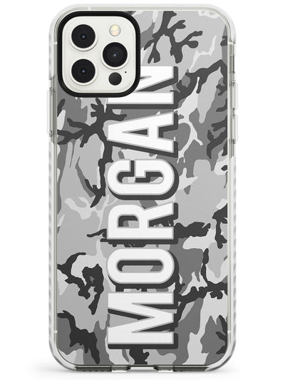 Light Grey Camo Slim TPU Phone Case for iPhone 11 Pro Max