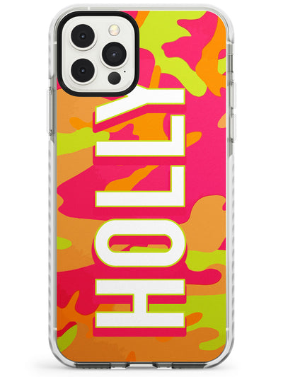 Colourful Neon Camo Slim TPU Phone Case for iPhone 11 Pro Max