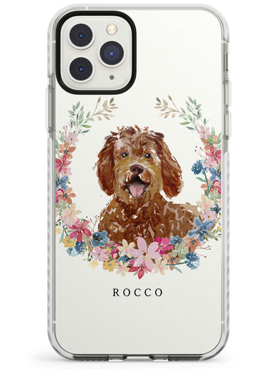 Labradoodle - Watercolour Dog Portrait Impact Phone Case for iPhone 11 Pro Max