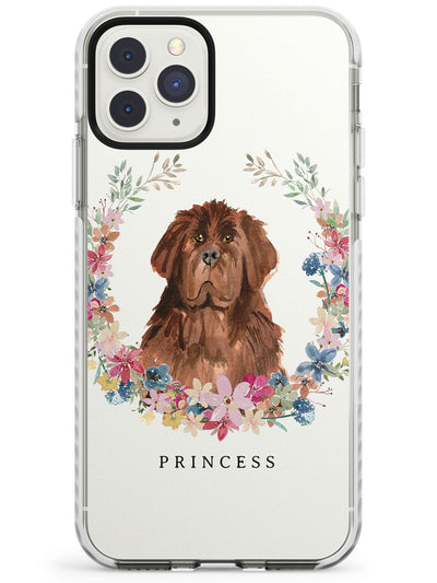 Newfoundland - Watercolour Dog Portrait Impact Phone Case for iPhone 11 Pro Max
