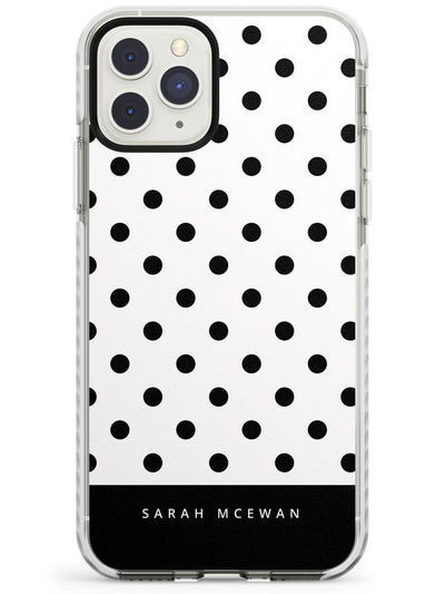 Custom Black & White Polka Dots iPhone Case  Impact Case Custom Phone Case - Case Warehouse