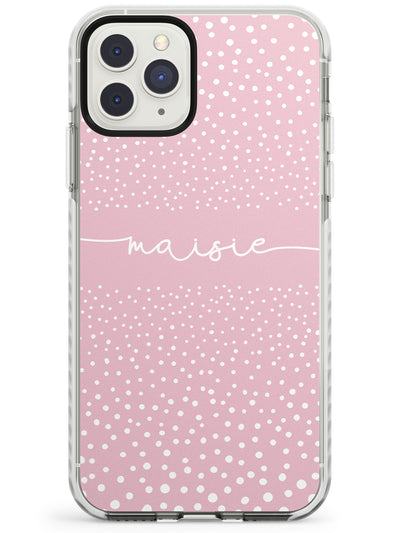 Custom Pink Dots iPhone Case  Impact Case Custom Phone Case - Case Warehouse