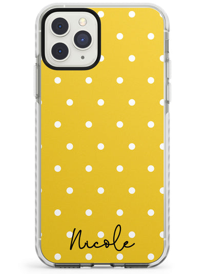 Custom Yellow Polka Dot iPhone Case  Impact Case Custom Phone Case - Case Warehouse