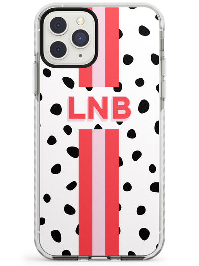 Custom Polka & Pink Stripe iPhone Case  Impact Case Custom Phone Case - Case Warehouse