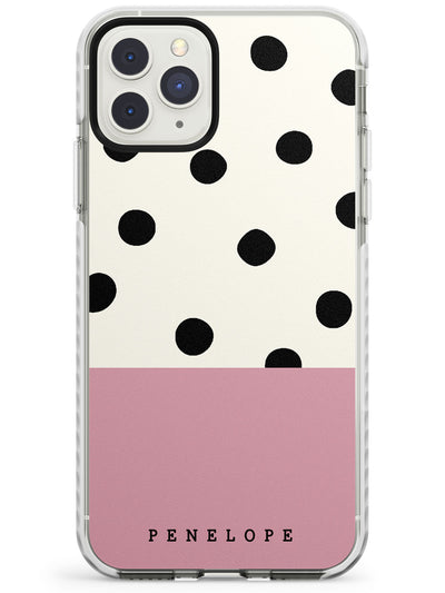 Pink Border Polka Dot iPhone Case  Impact Case Custom Phone Case - Case Warehouse