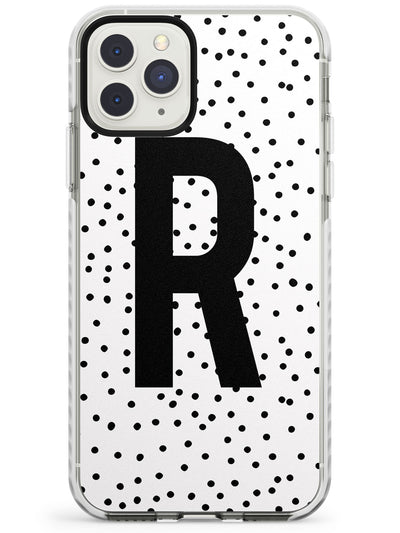 Large Monogram & Dots iPhone Case  Impact Case Custom Phone Case - Case Warehouse
