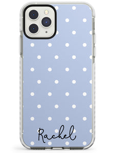 Simple Light Blue Dots iPhone Case