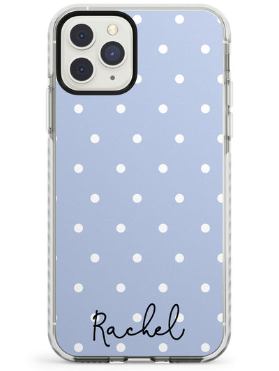 Simple Light Blue Dots iPhone Case  Impact Case Custom Phone Case - Case Warehouse