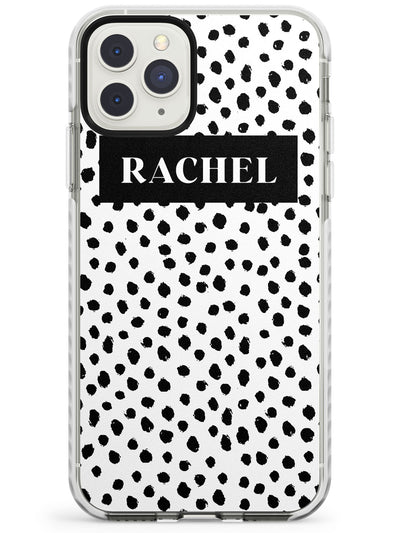 Black Bar & Dots iPhone Case  Impact Case Custom Phone Case - Case Warehouse