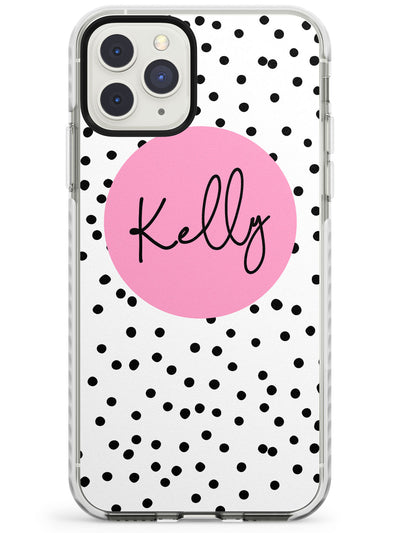 Pink Circle & Dots iPhone Case  Impact Case Custom Phone Case - Case Warehouse