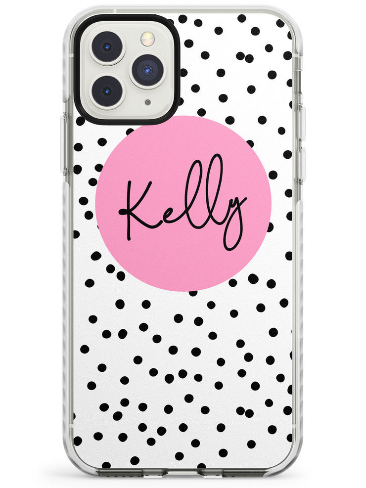 Pink Circle & Dots iPhone Case