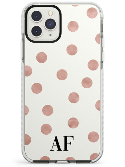 Initials & Dots iPhone Case  Impact Case Custom Phone Case - Case Warehouse
