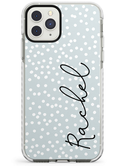 Vertical Cursive & Dots iPhone Case  Impact Case Custom Phone Case - Case Warehouse
