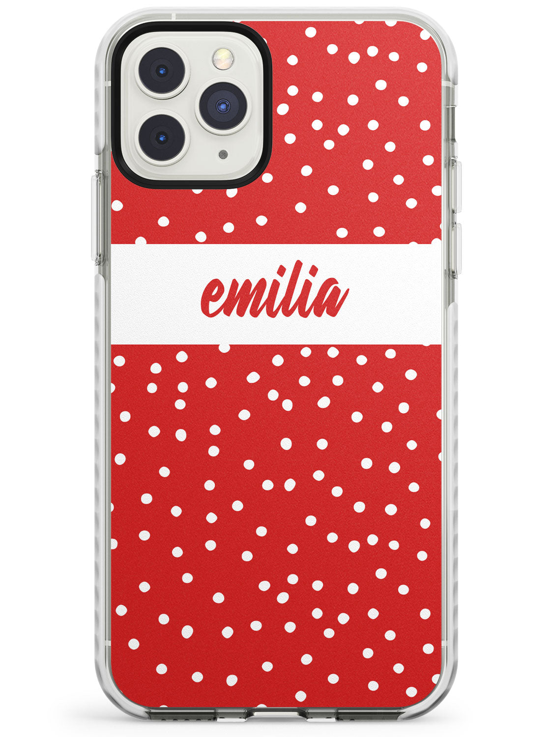 Framed Cursive & Dots iPhone Case