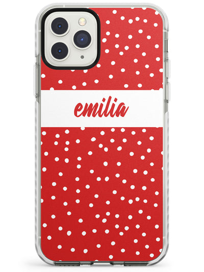 Framed Cursive & Dots iPhone Case  Impact Case Custom Phone Case - Case Warehouse