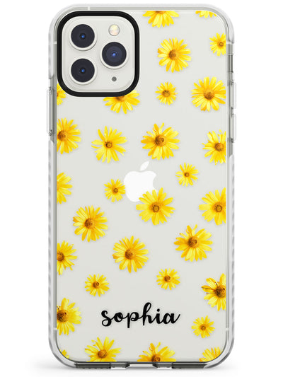 Yellow Daisies & Cursive iPhone Case  Impact Case Custom Phone Case - Case Warehouse