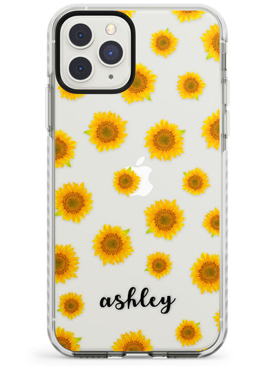 Sunflowers & Cursive iPhone Case  Impact Case Custom Phone Case - Case Warehouse