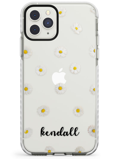White Daisies & Cursive iPhone Case  Impact Case Custom Phone Case - Case Warehouse