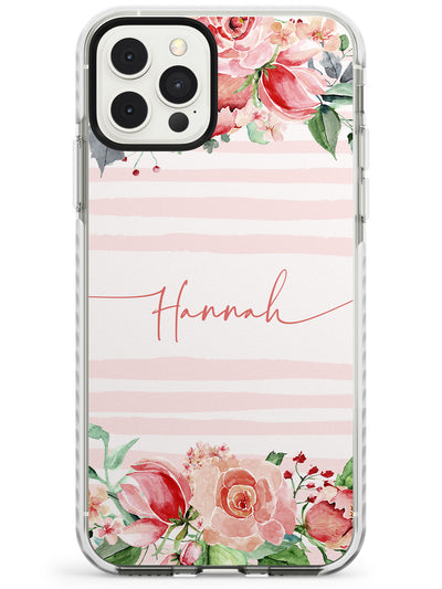 Floral Borders & Stripes Slim TPU Phone Case for iPhone 11 Pro Max