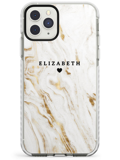 White & Gold Swirl Marble iPhone Case  Impact Case Custom Phone Case - Case Warehouse