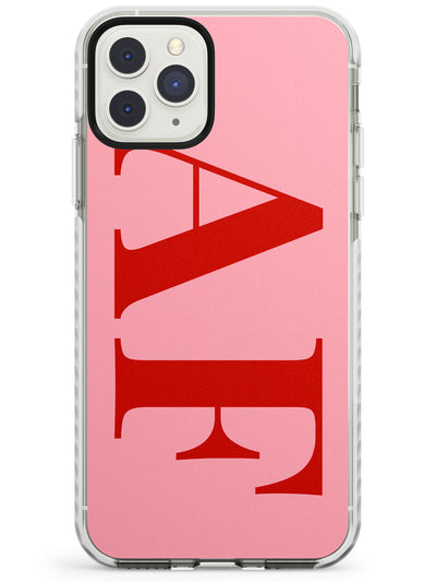 Red & Pink Personalised Letters iPhone Case  Impact Case Custom Phone Case - Case Warehouse