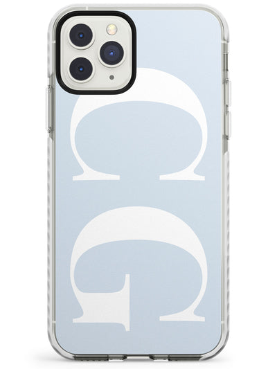 White & Blue Personalised iPhone Case  Impact Case Custom Phone Case - Case Warehouse