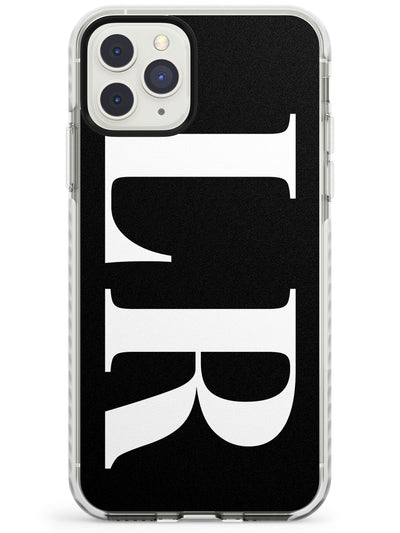 White & Black Personalised Letters iPhone Case  Impact Case Custom Phone Case - Case Warehouse