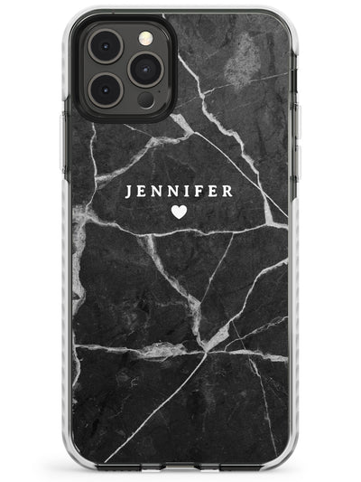 Personalised Dark Grey Marble Slim TPU Phone Case for iPhone 11 Pro Max