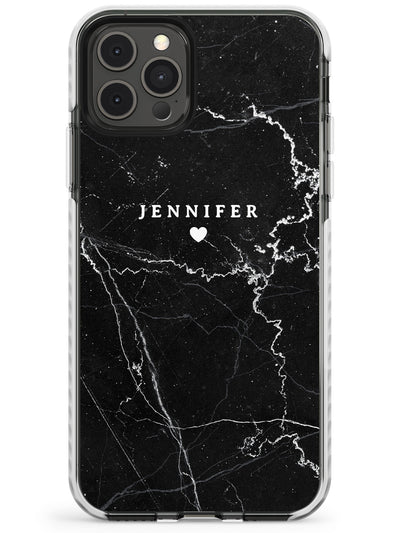 Personalised Black Marble Slim TPU Phone Case for iPhone 11 Pro Max