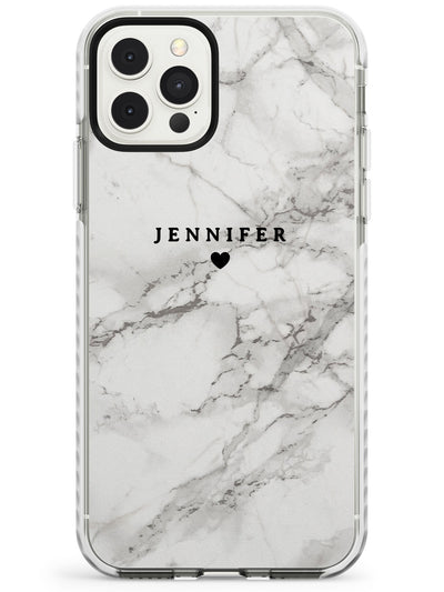 Personalised Light Grey Classic Marble Slim TPU Phone Case for iPhone 11 Pro Max