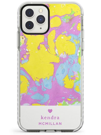 Yellow, Purple & Blue - Marbled iPhone Case  Impact Case Custom Phone Case - Case Warehouse