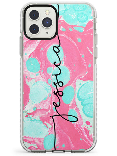 Turquoise & Pink - Marbled iPhone Case  Impact Case Custom Phone Case - Case Warehouse