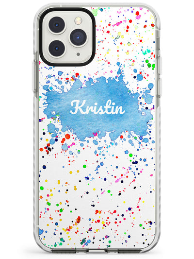Rainbow Paint Splatter iPhone Case  Impact Case Custom Phone Case - Case Warehouse