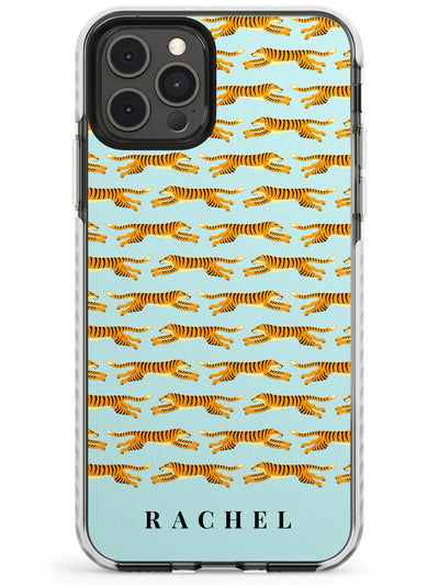 Personalised Running Tiger Pattern Slim TPU Phone Case for iPhone 11 Pro Max