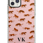 Personalised Safari Tiger Pattern on Pink iPhone Case