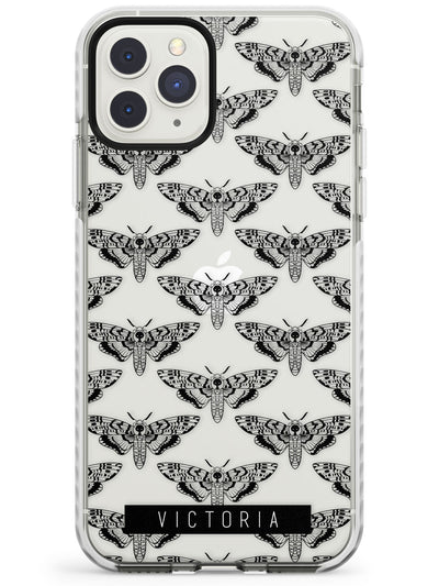 Customised Hawk Moth Pattern iPhone Case  Impact Case Custom Phone Case - Case Warehouse