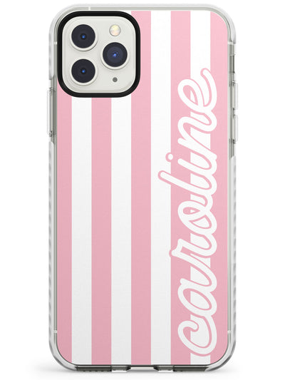 Custom + Pink Stripes iPhone Case  Impact Case Custom Phone Case - Case Warehouse