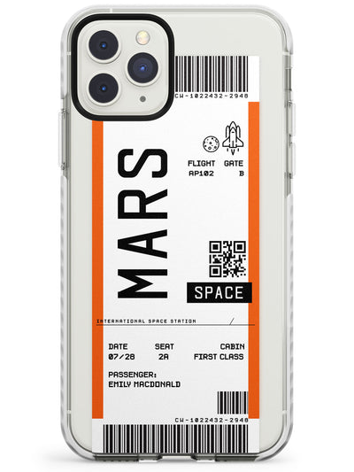 Mars Custom Space Travel Ticket iPhone Case  Impact Case Custom Phone Case - Case Warehouse