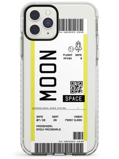 Moon Custom Space Travel Ticket iPhone Case  Impact Case Custom Phone Case - Case Warehouse
