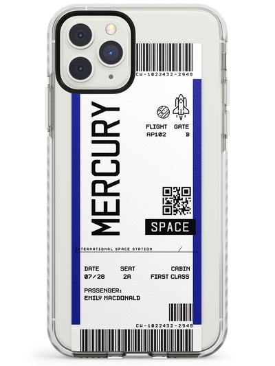 Mercury Custom Space Travel Ticket iPhone Case  Impact Case Custom Phone Case - Case Warehouse