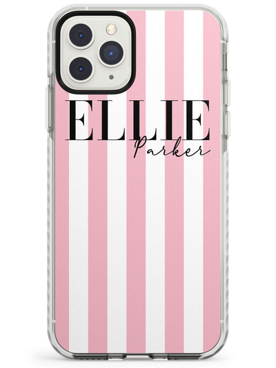 Pink Stripes iPhone Case  Impact Case Custom Phone Case - Case Warehouse