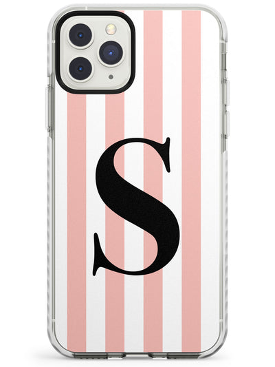Pink Stripe Mono iPhone Case  Impact Case Custom Phone Case - Case Warehouse