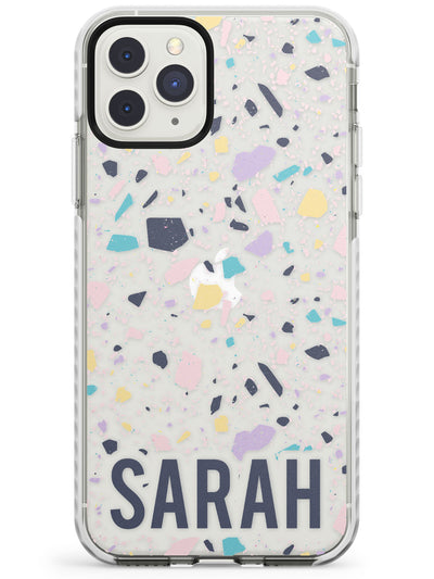 Customised Terrazzo - Pink, Purple, Blue Impact Phone Case for iPhone 11 Pro Max