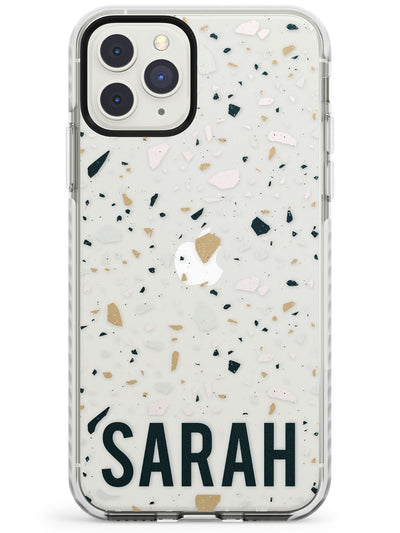 Customised Terrazzo - Blue, Pink, Brown Impact Phone Case for iPhone 11 Pro Max