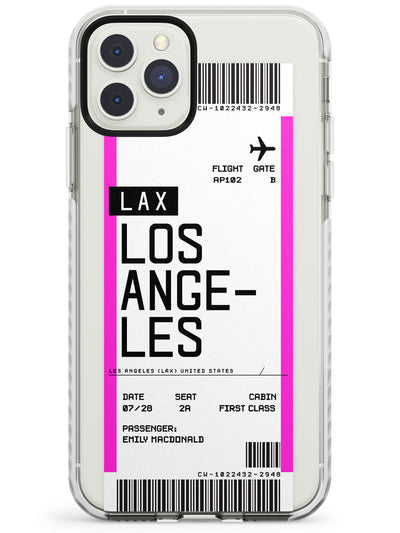 Los Angeles Boarding Pass iPhone Case  Impact Case Custom Phone Case - Case Warehouse