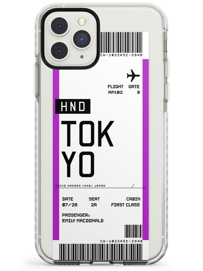 Tokyo Boarding Pass iPhone Case  Impact Case Custom Phone Case - Case Warehouse