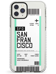 San Francisco Boarding Pass iPhone Case