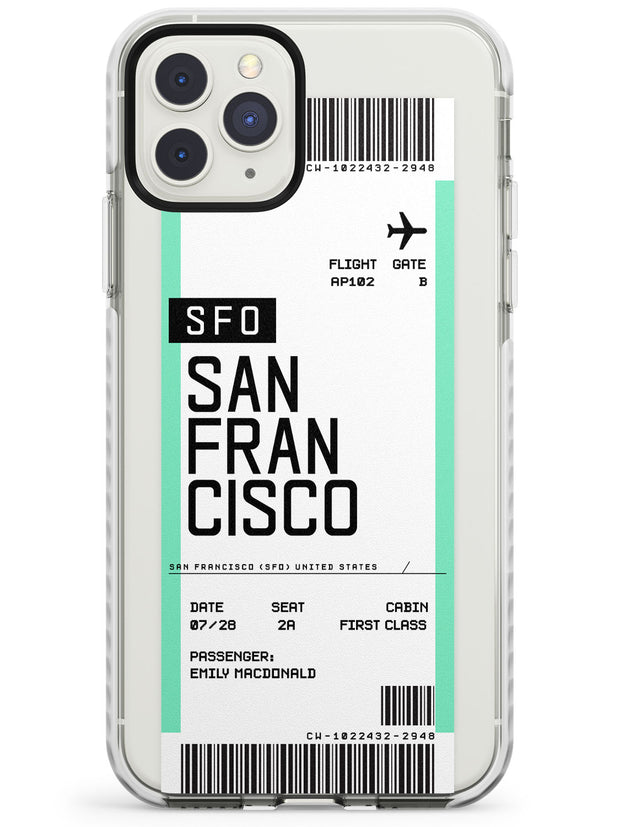 San Francisco Boarding Pass iPhone Case  Impact Case Custom Phone Case - Case Warehouse