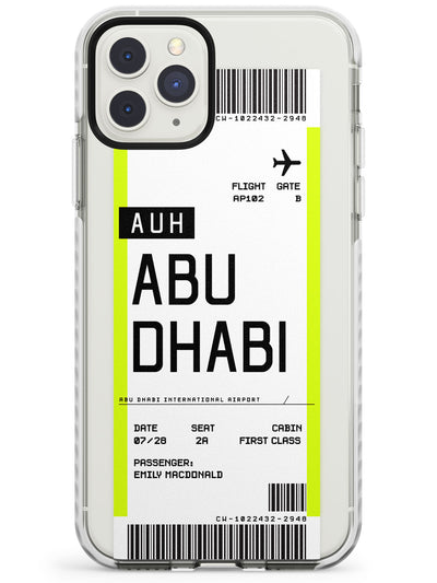 Abu Dhabi Boarding Pass iPhone Case  Impact Case Custom Phone Case - Case Warehouse