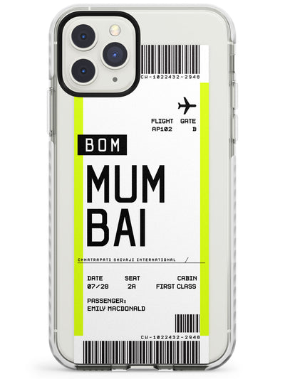 Mumbai Boarding Pass iPhone Case  Impact Case Custom Phone Case - Case Warehouse
